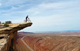 bicycle on cliff