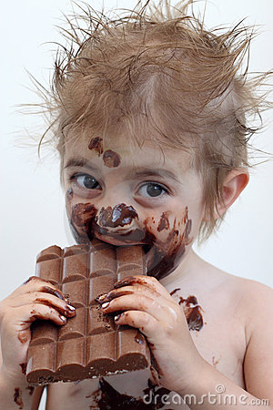messy chocolate