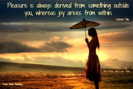 sunset umbrella Eckhart quote