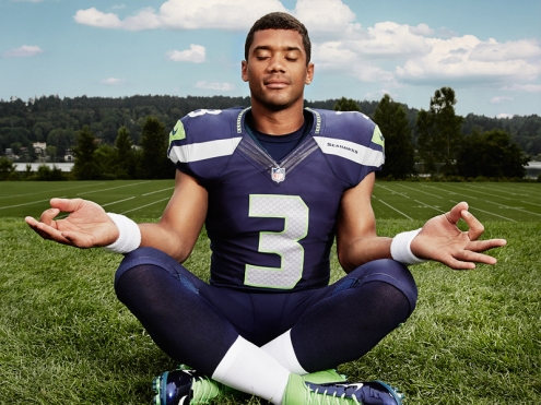 meditating athlete