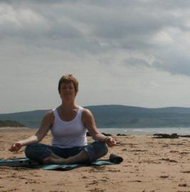 Yoga Val on beach