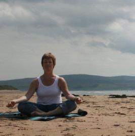 Yoga Val on beach