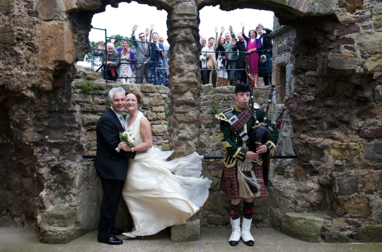 Dirlton Castle wedding