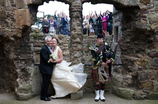 Dirlton Castle wedding