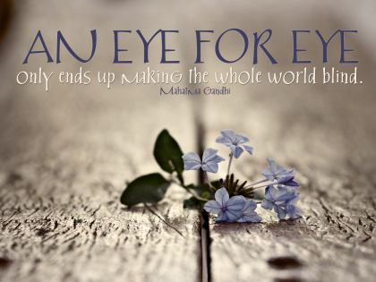 Gandhi - eye for eye