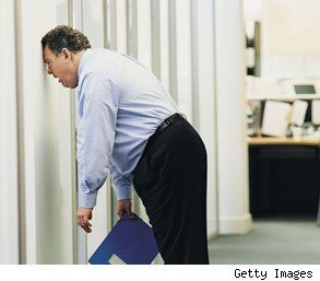 frustrated man at work