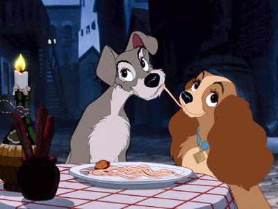 Lady and Tramp spaghetti