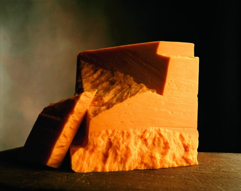 chunk of cheddar cheese