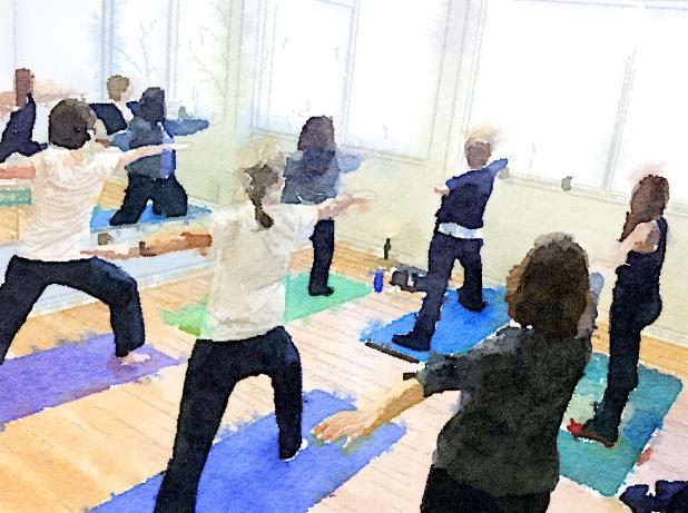 Val's yoga class