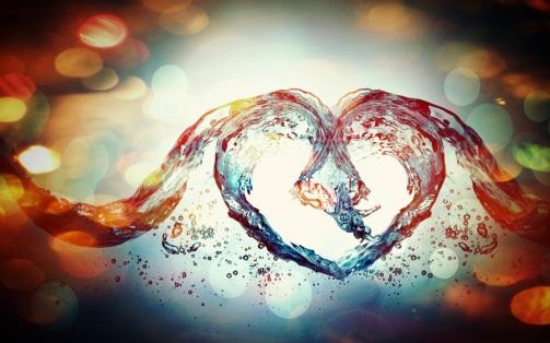 flowing open heart