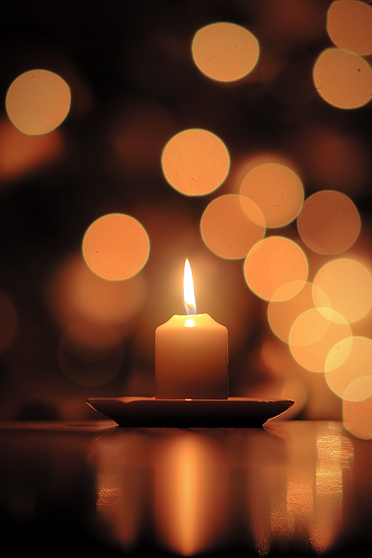 kindling candle flame