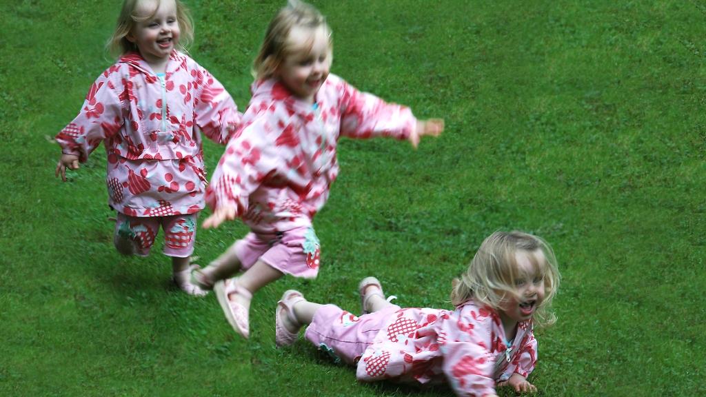toddler running and falling