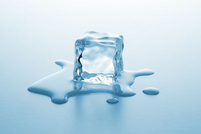 melting ice cube