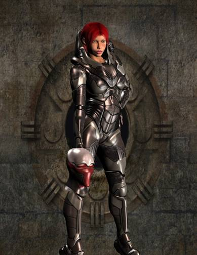 woman in body armor