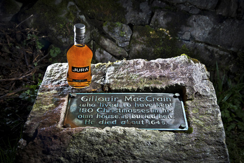 whisky and gravestone