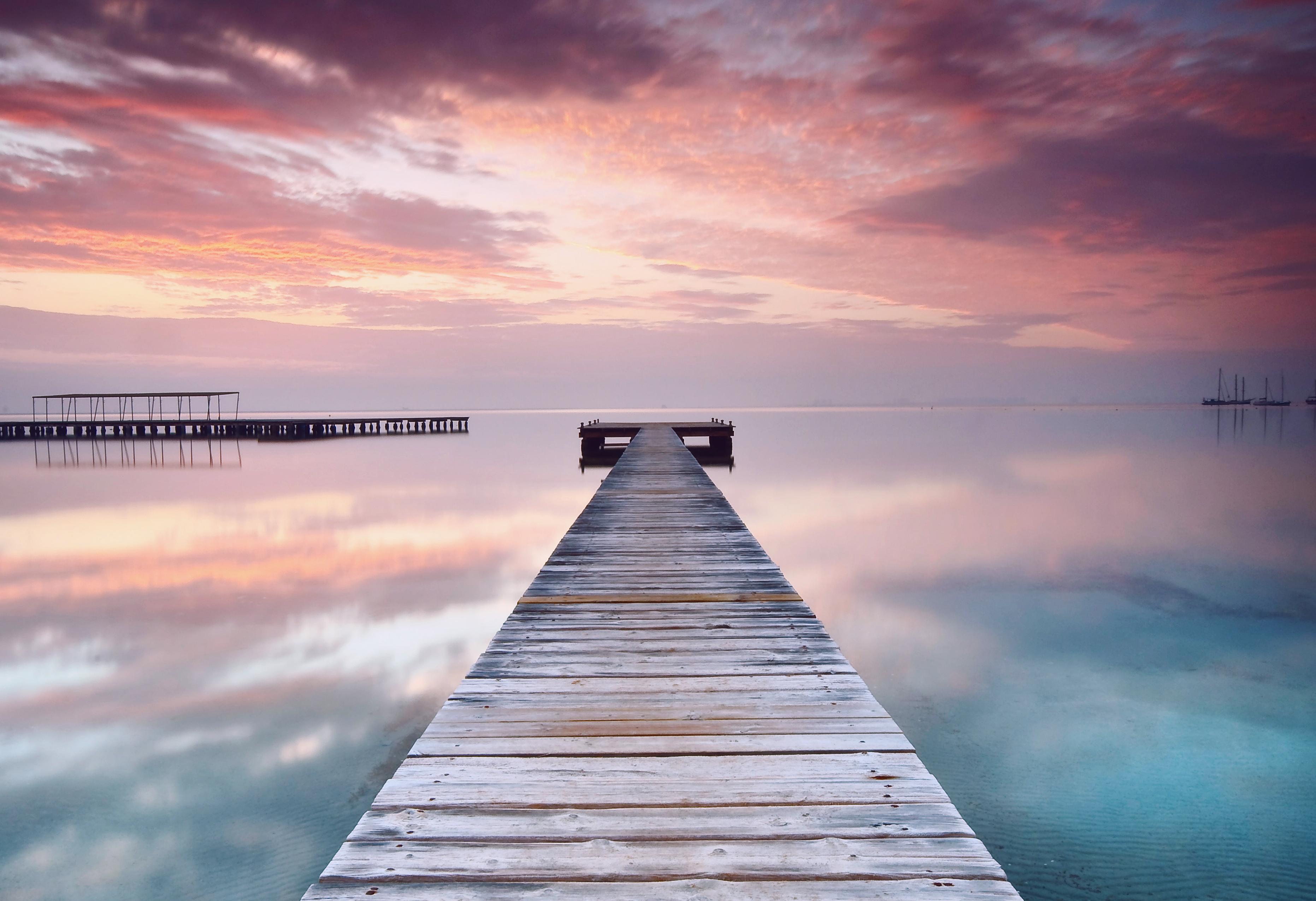 мост фонари море небо  № 3388185 без смс