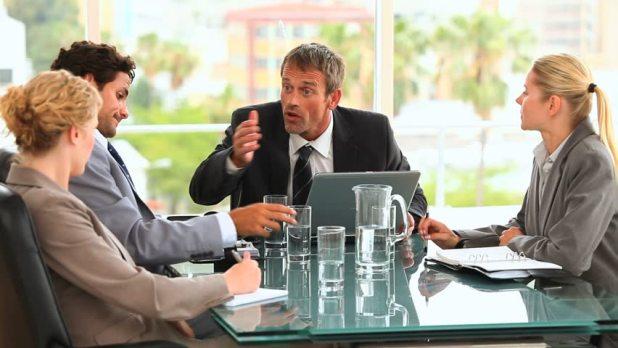 Talking in meetings