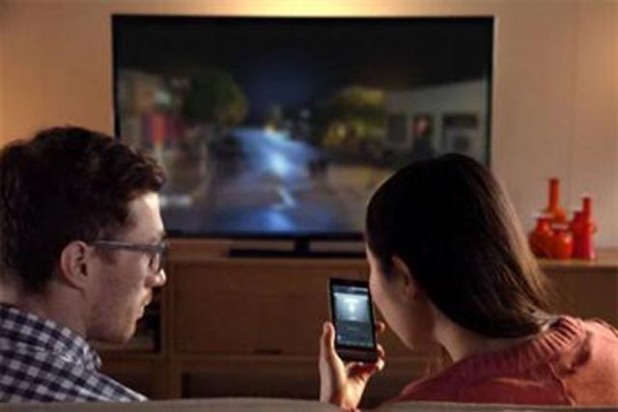watching tv on cell phone