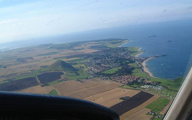 North Berwick from the air