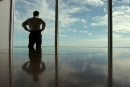man reflecting