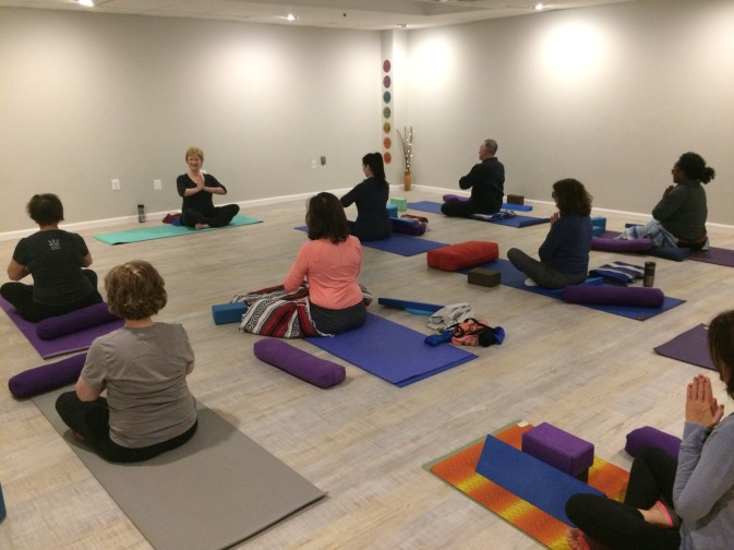 Yoga class with Val