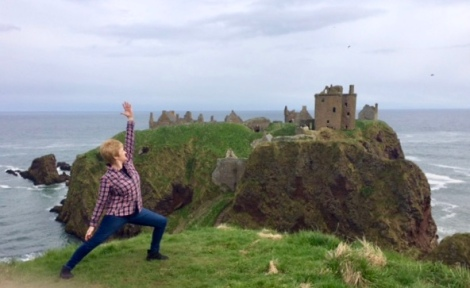 yoga at Dunottar castle